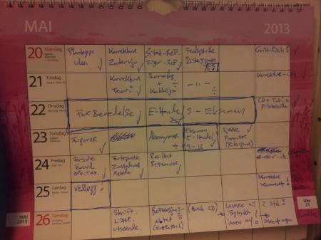 Kalenderoversikt uke for uke, dag for dag