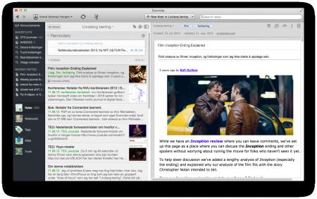 En klippet webside med web-clipper. Merk min egen tekst helt øverst, taggene film og forklaring og at det ligger i notatboka Livslang læring. Det tar noen sekunder å lagre en slik ressurs men kan være veldig nyttig i fremtiden. Klikk for stor versjon.