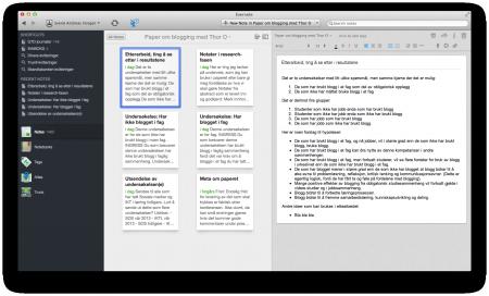 Evernote, klikk for stor versjon