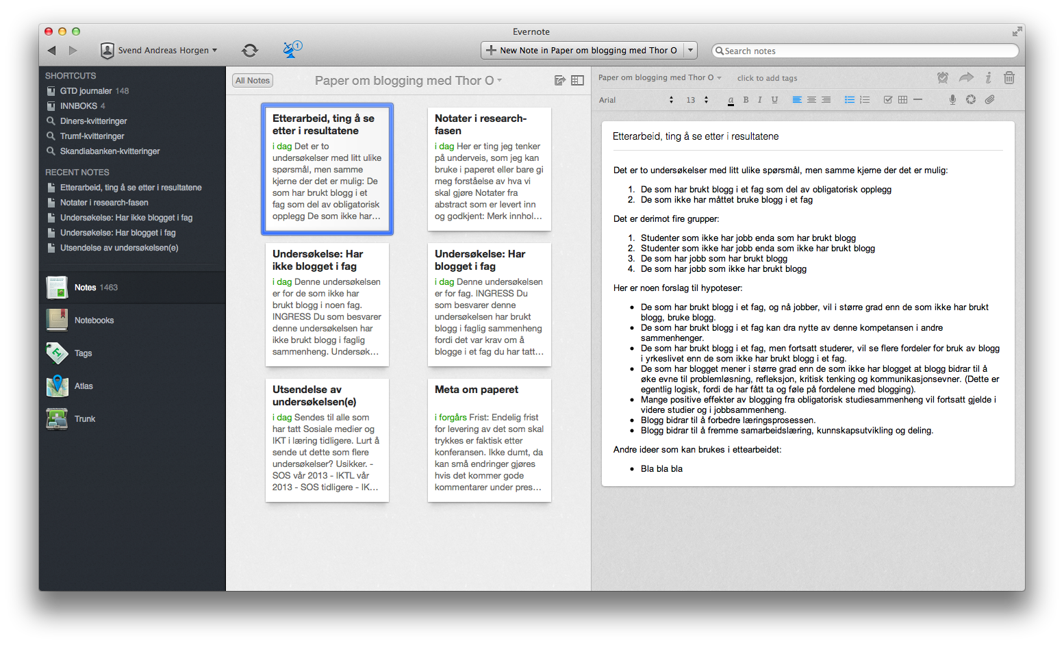 evernote for thesis Stop procrastinating and learn to use evernote for research as a phd student academic research is chaotic, tidy it up by using evernote for research.