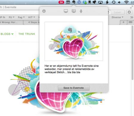 Hvordan klippe skjermdumper og annet innhold lynraskt inn i Evernote.