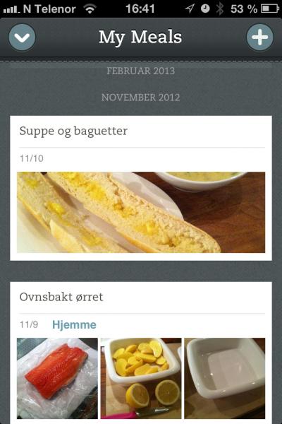 Ta bilde av mat på restauranter eller hjemme med app-en Food.