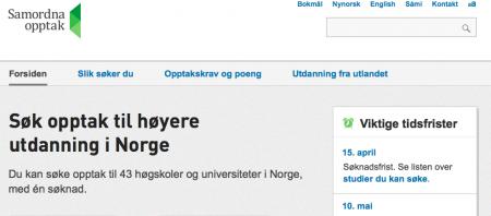 Samordna opptak er portalen du går til for å søke deg inn på et studium innen høgere utdanning i Norge