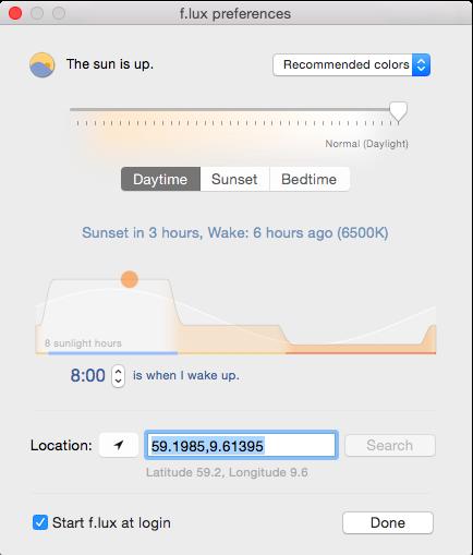 Programmet f.lux justerer fargetemperaturen slik at kroppens søvnhormoner ikke påvirkes av skjermen